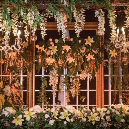 WeddingSutra – Foreign Wedding Planners Recreate an Indoor Garden for a Reception at Thailand
